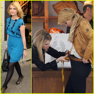 Mischa Barton Gets Measured