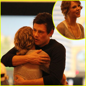 Taylor Swift & Cory Monteith Hug It Out