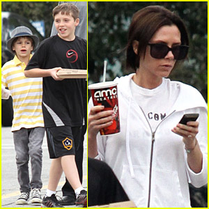 Victoria Beckham & Family See 'Alice In Wonderland'