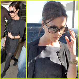 Victoria Beckham Jets For David's Recovery