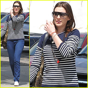 Anne Hathaway Shows Her Stripes