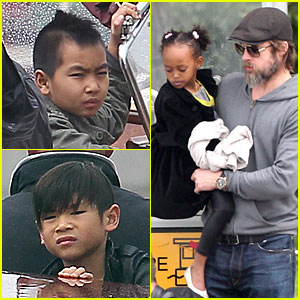 Brad Pitt: Boat Bonding with the Kids!
