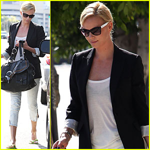 Charlize Theron is Pedicure Pretty