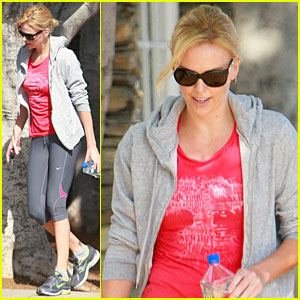 Charlize Theron Works It Out