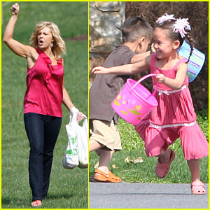 Kate Gosselin & Easter Egg Hunt Plus 8