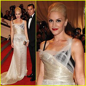 Gwen Stefani: MET Ball 2010 with Gavin Rossdale!