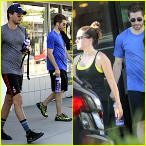 Jake Gyllenhaal & Austin Nichols Hit Gym with Sophia Bush