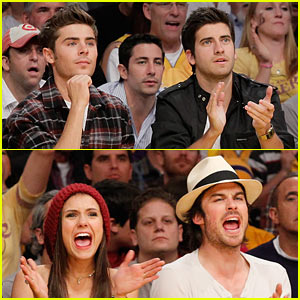 Zac Efron & Vampire Diaries: Let's Go Lakers!