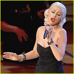 Christina Aguilera To Sing National Anthem -- Again!