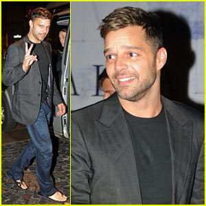 Ricky Martin: Fancy Milan Dinner!
