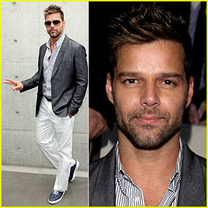Ricky Martin: Milan Fashion Week Man!