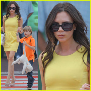 Victoria Beckham: Mellow Yellow Arrival in Cannes