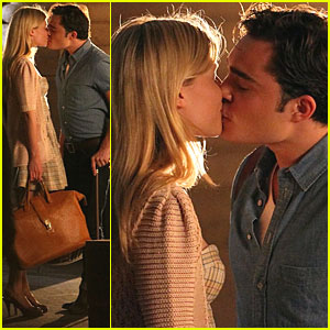 Ed Westwick & Clemence Poesy: Late Night Lip Lock