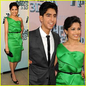 Freida Pinto & Dev Patel: 'Last Airbender' Premiere Couple