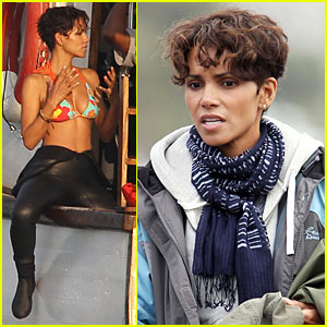 Halle Berry: Bikini Wetsuit for 'Dark Tide'!