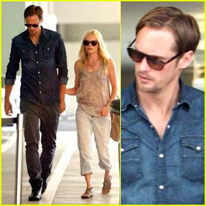 Kate Bosworth: Burberry Shopping with Alexander Skarsgard!