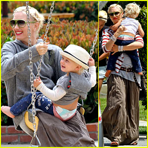 Gwen Stefani: Swinging with Zuma!