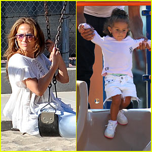 Jennifer Lopez: Swinging and Sliding with the Family!