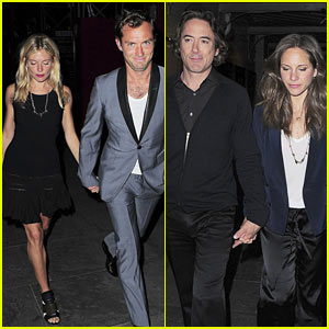 Jude Law & Robert Downey Jr.: Double Date!