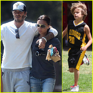 David &#038; Victoria: Beckhams' Basketball Game