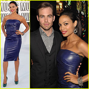 Chris Pine: VMAs with Rosario Dawson!
