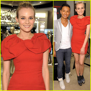 Diane Kruger: Fashion's Night Out with Prabal Gurung!