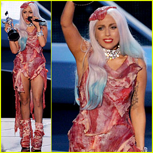 Lady Gaga's Meat Dress -- Born This Way!!!