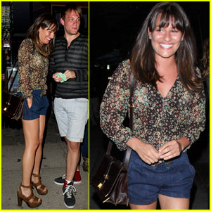 Lea Michele &amp; Theo Stockman: Sushi Date Night!