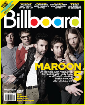 Maroon 5 Covers Billboard Magazine
