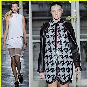 Pregnant Miranda Kerr Walks Balenciaga Show
