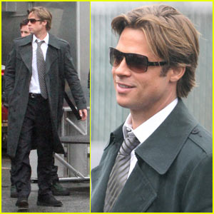 Brad Pitt Moneyballs His Way Through Boston