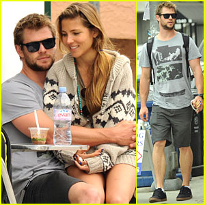 Chris Hemsworth & Elsa Pataky Lap It Up