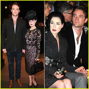 Dita Von Teese & Louis-Marie de Castelbajac: Fashion Father
