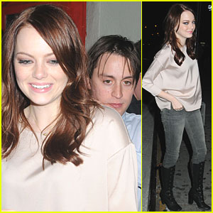 Emma Stone: 'SNL' After Party with Kieran Culkin!