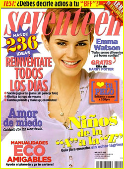 Emma Watson Covers 'Seventeen Mexico' November 2010