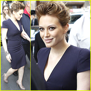 Hilary Duff Goes Live with Regis & Kelly