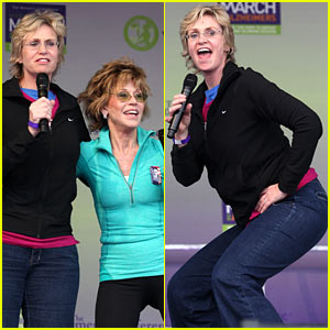 Jane Lynch Gets 'Physical' With Jane Fonda