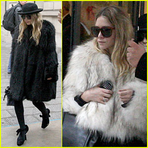 Mary-Kate & Ashley Olsen: Furry Fashion