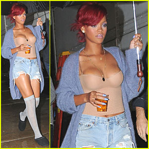 Rihanna: Shooting Scenes for 'What's My Name' Video!