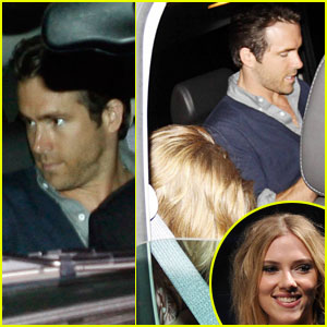 Scarlett Johansson & Ryan Reynolds: Low-Key at XIV