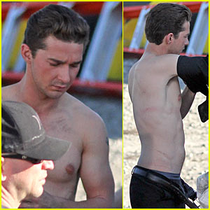 Shia LaBeouf: Shirtless Transformers Star!