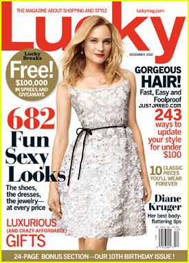 Diane Kruger Covers 'Lucky' December 2010