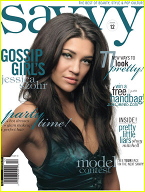 Jessica Szohr Is a 'Savvy' Cover Girl