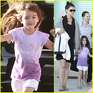 Katie Holmes & Suri Cruise: Flight from Fort Lauderdale!
