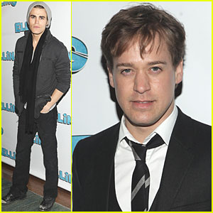Paul Wesley & TR Knight: 'Elling' Opening Night!