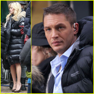 Reese Witherspoon & Tom Hardy Bundle Up for 'War'