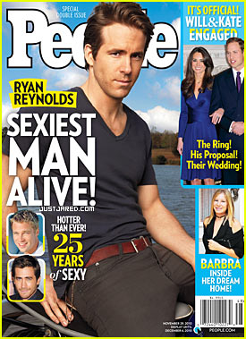 Ryan Reynolds: People's Sexiest Man Alive 2010!