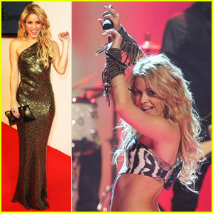 Shakira: 'Waka Waka' at Bambi Awards!