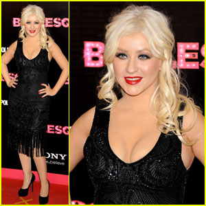 Christina Aguilera: 'Burlesque' Premiere in Spain!