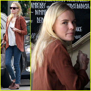 Kate Bosworth Drops by Doughboys Cafe